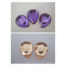 Perlas de cristal del espejo decorativo en forma de gota (1023)