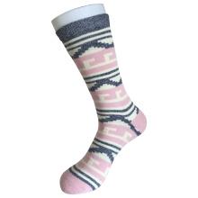 Half Cushion Cotton Fashion Logo Sport Pink Socks (JMCC08)