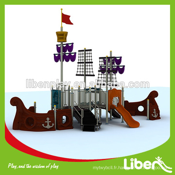 Avec GS Certificate Pirate Ship Outside Playground Equipment