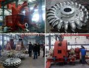 Free-Jet Impulse Hydro Power Turbine, Double Nozzles Horizo
