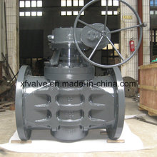 Industrial Usage Flange Connection Plug Valve with Gear Operated