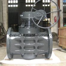 Válvula de conexão de flange de uso industrial com engrenagem