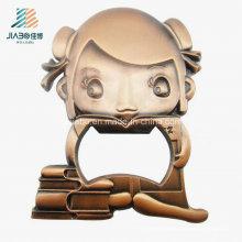 Abrebotellas de vino de encargo de bronce de la fundición de la aleación de los nuevos productos para el regalo de boda