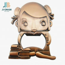 New Products Alloy Casting Bronze Custom Wine Bottle Opener for Wedding Gift
