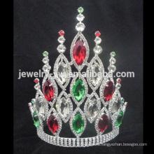 Оптовые продажи Большой большой AB кристалл тиара тирана корона для женщин