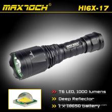 Maxtoch HI6X-17 1000LM 18650 Li-ion batterie Rechargeable réflecteur profonde XML LED T6 Cree torche