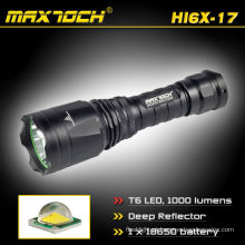 Maxtoch HI6X-17 1000LM 18650 Li-ion bateria recarregável refletor profunda XML LED T6 Cree lanterna tocha