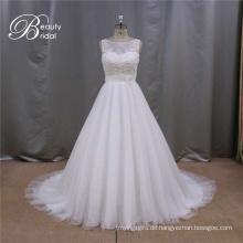 A-Line China Maß Hochzeitskleid