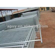 feuille de panneaux de clôture en métal temporaire