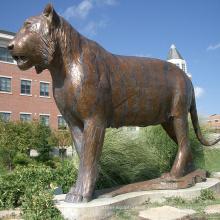 Wildes Tierstatue Bronze 2018 des heißen Verkaufs Lebensgroße Tigerstatue für Verkauf