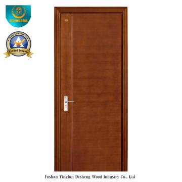 Puerta de madera compuesta sólida del estilo moderno para el sitio (ds-080)