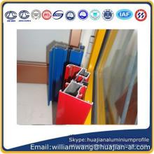 powder coated aluminium profile for windows frame, anodized windows frame, wood grain aluminium profile for windows