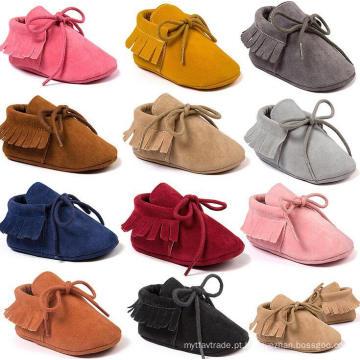 Sapatos de criança infantil bebê unisex prewalker mocassins sola macia