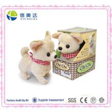 Melhor Handmade Walking and Barking cão Chihuahua Plush brinquedo eletrônico