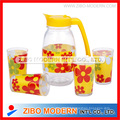 Clear Decal  Juice Cold Drink Bottles with Glass