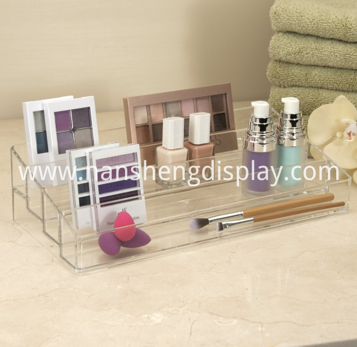 Clear Multi-Level Makeup Palette Organizer