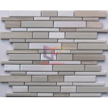 Cracked Ceramic with Marble Strip Mosaic (CFS640)