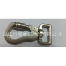 Enjoliveur en alliage de zinc utilisé pour crochet pour animaux de compagnie, crochet de sac. Crochet en cuir.