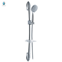 KL-06 china supplier with soap shelf toilet hardware accessory solid copper surface mounted sliding bar shower set