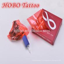 Accessoires de tatouage en gros jetable en plastique rouge machine à tatouer sacs fournitures