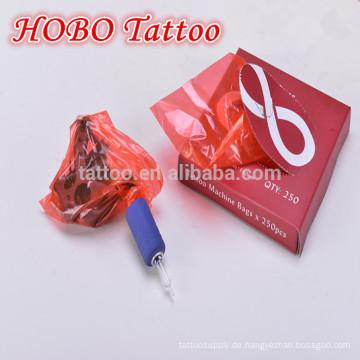 Großhandel Tattoo Zubehör Einweg Kunststoff rot Tattoo Maschine Taschen liefert