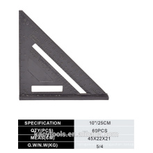 Aleación de aluminio conjunto cuadrado / triángulo regla / velocidad cuadrado