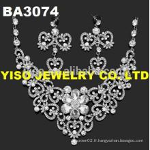 Joli ensemble de bijoux de mariage