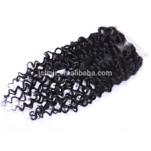 factory price soft curly virgin indian hair clip in lace closure