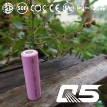 3.7V2600mAh, bateria de lítio, Li-ion 18650, cilíndrica, recarregável