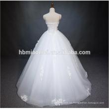 Vestido atractivo del vestido de boda del top de la venta del piso blanco del color de la longitud del piso 2016