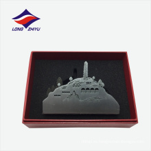 Venta al por mayor monumentos de montaña estilo personalizado logotipo titular de la tarjeta de nombre