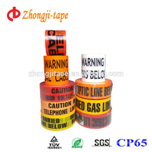 Colourful printed pe underground warning tape