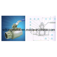 Stainless Steel 316 1000pis M/F 2-PC Ball Valve