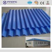 techo de aluminio revestido en acero alta calidad galvanizado color azulejo revestimiento panel