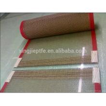 Importação china bens ptfe revestido fibra de vidro malha tecido correia transportadora