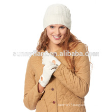 Wholesale 100% Cashmere Gloves and Beanie Hat
