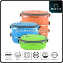 2016 Hot selling lucn box / stainless steel rectangular folding tiffin lunch box
