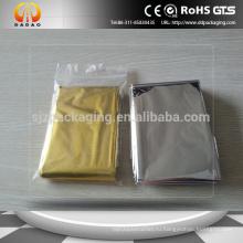 Безопасные аварийные одеяла цвет серебристый и золотой