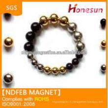 High quality strong ndfeb monopole magnets N35 Zn D5mm balls