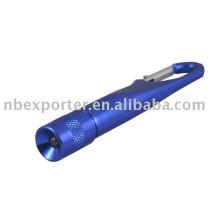 Porte-clés en aluminium LED, mousqueton LED en aluminium, lampe torche LED multifonction, torche LED en aluminium