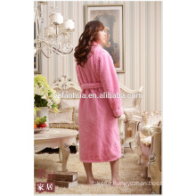 Foot Length Honeycomb jacquard Women Bathrobe With Long Sleeves
