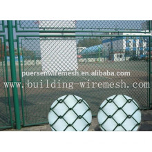 Decorative Electro Galvanized PVC coated Chain Link Fencing Mesh