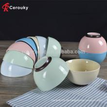 Normallack Porzellan Keramik dekorative Müslischale