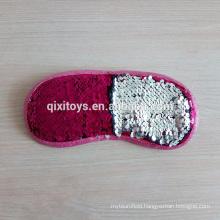 Professional Customized Sequin Decoration Soft Plush Eye Msk
