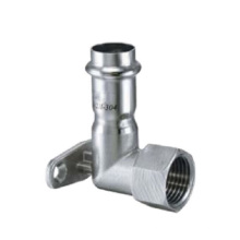 Dn15*1/2, Od16mm SUS304 GB Female Short Elbow with Faucet Seat