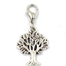 Pendientes de la joyería de la aleación del cinc de los encantos del árbol de la vida de la manera
