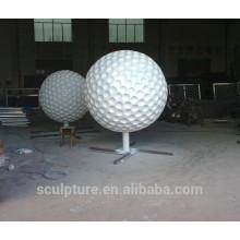 Sculpture en acier inoxydable sculpture sur le golf métal sculpture sur le porc
