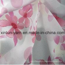 Vente en gros nouveau tissu imprimé en mousseline de soie pour la robe
