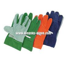 Один из ПВХ Пунктирной хлопка садоводства перчатки-2600