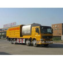 HOWO 8m3 asphalt tank 14m3 Gravel bucket Synchronized crushed stone seal layer truck